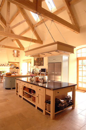 Pool and barn conversion fisher bullen ltd for Barn conversion kitchen designs